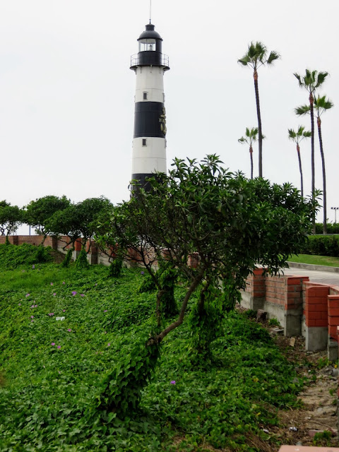 Lighthouse along Lima's Malecon (The Miraflores Boardwalk)