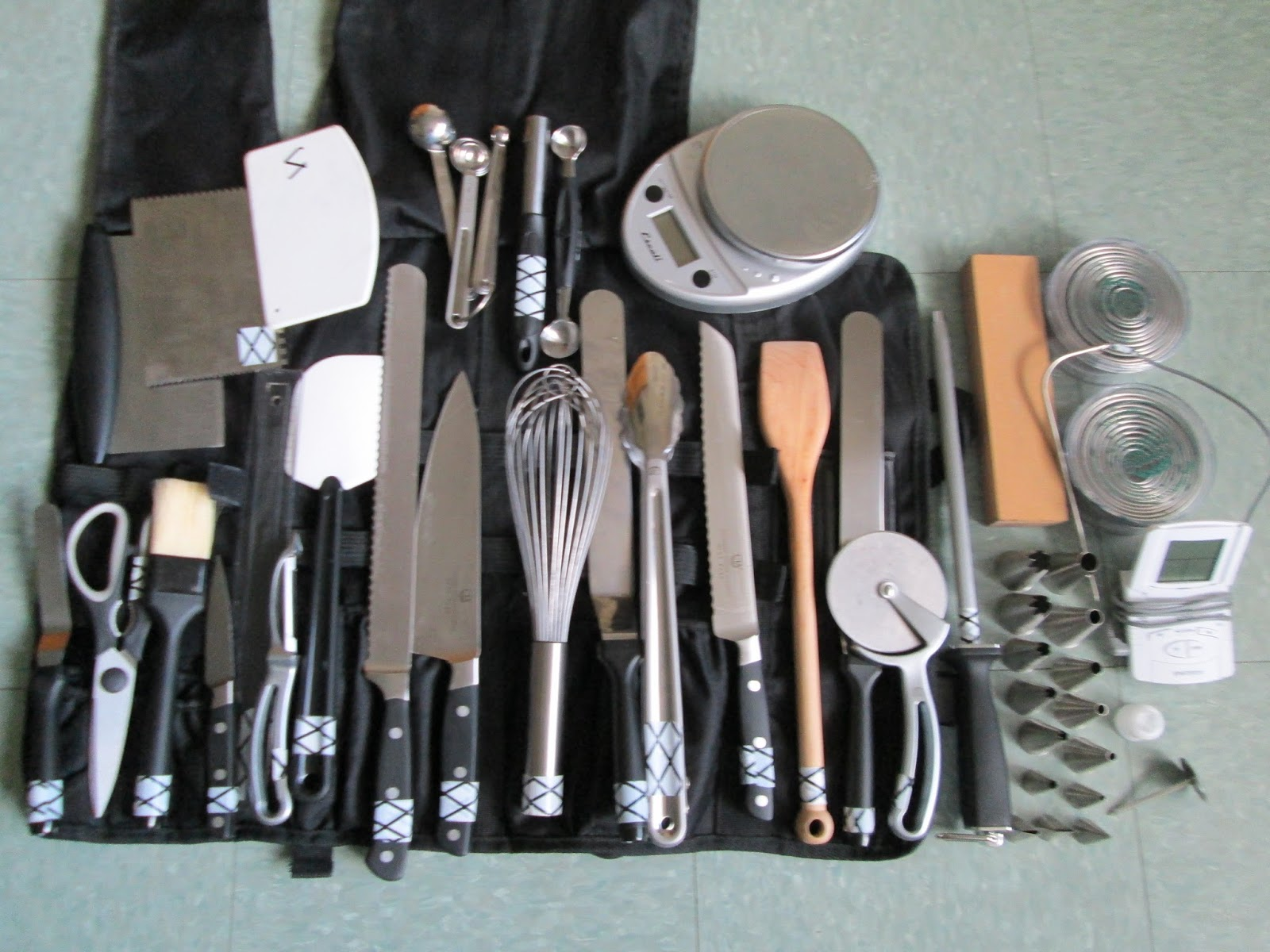 Our life of food packing for culinary school for Culinary kitchen equipment