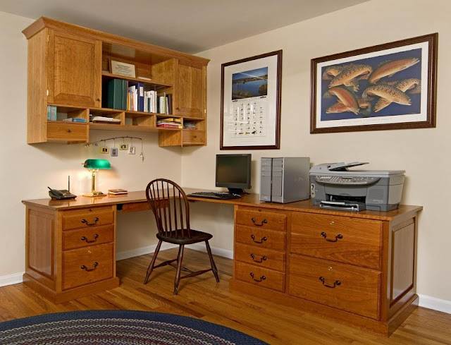 best buy campbell walnut veneer home office desk with cabinets ideas