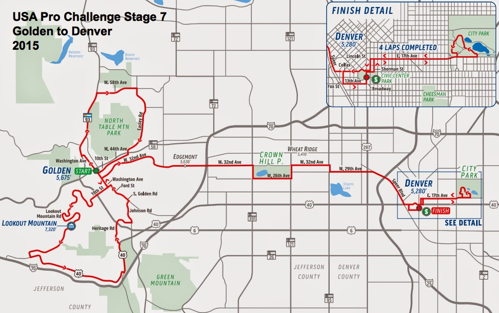USA Pro Challenge Stage 7 route maps 2015