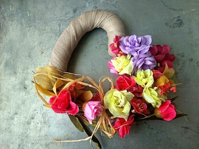DIY,deco, dekorace, květiny, kvety, srdce,venec,vyrob si sam, udelej si sam,laska
