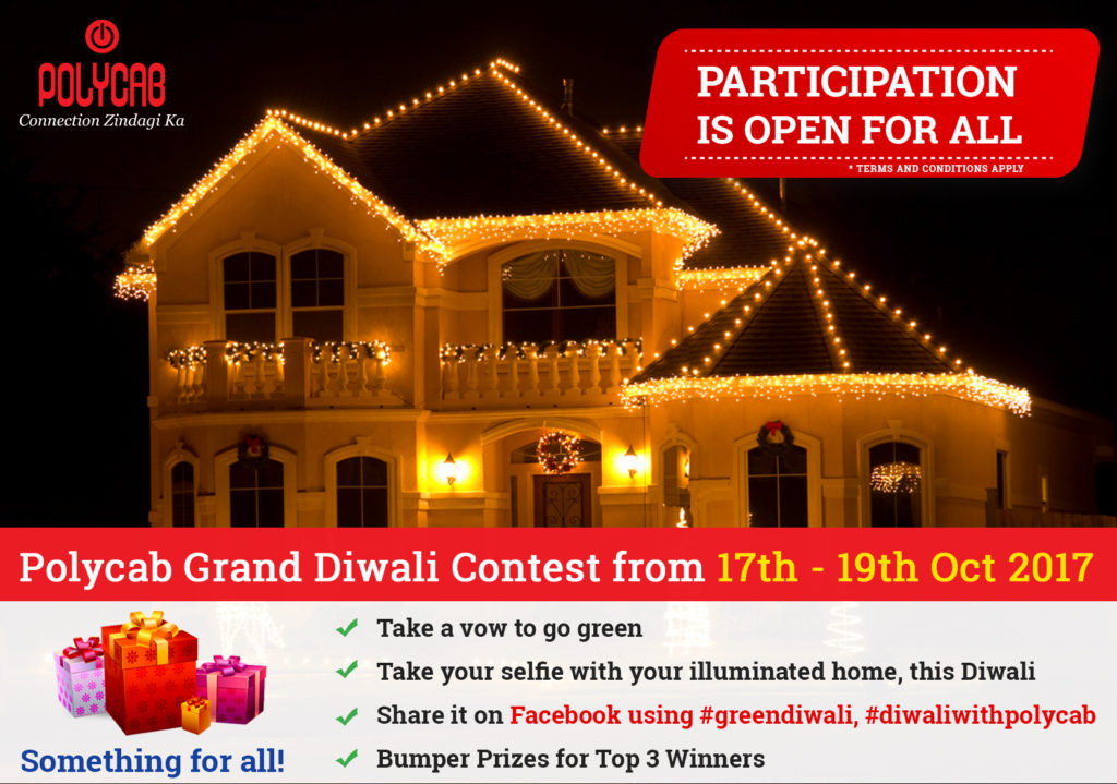 Polycab wire facebook contest diwali season win prizes vouchers