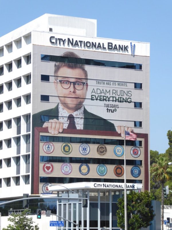 Giant Adam Ruins Everything season 2 billboard
