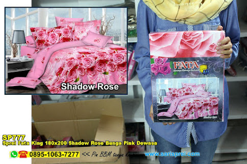 Sprei Fata King 180x200 Shadow Rose Bunga Pink Dewasa