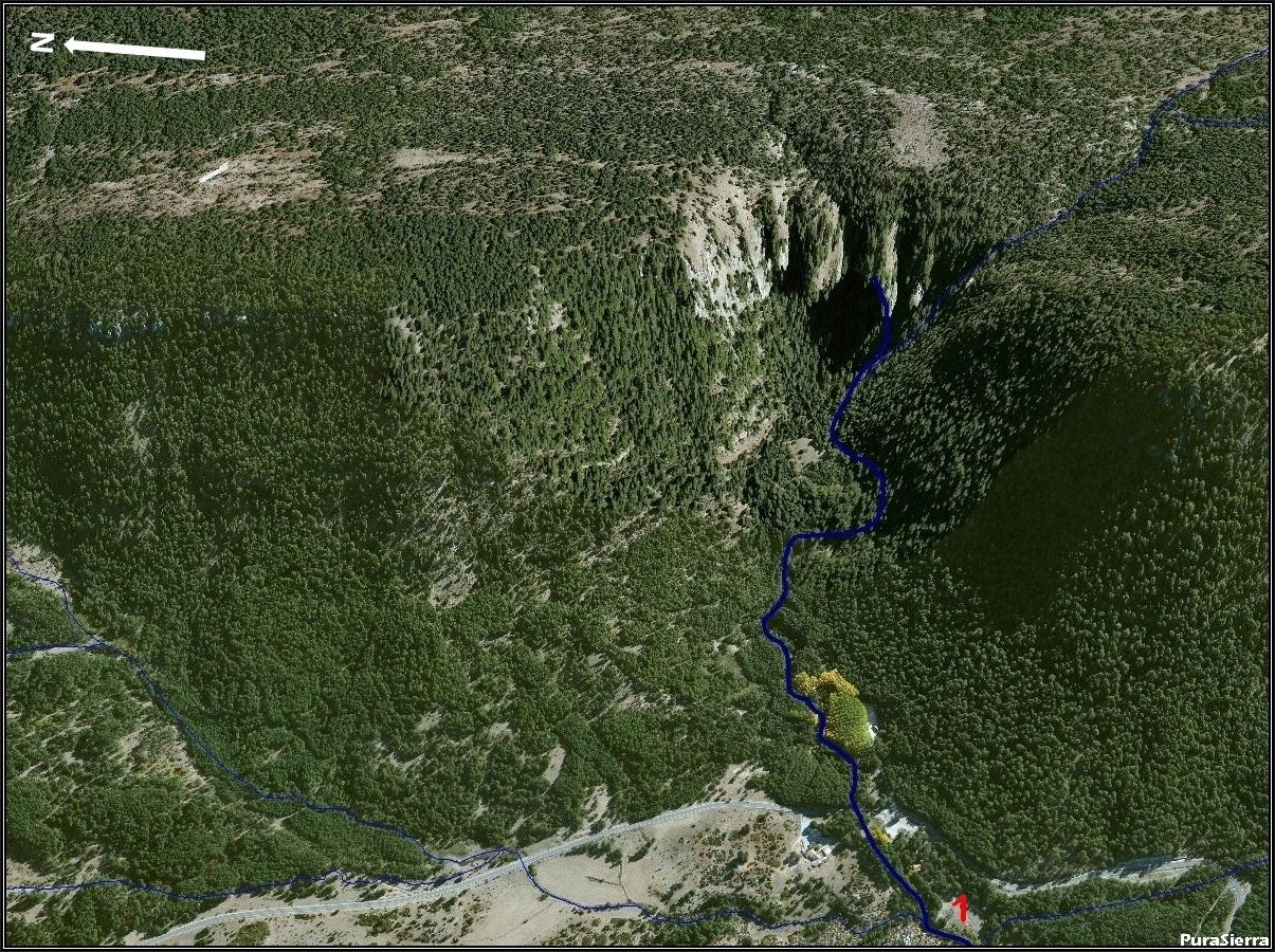 El Río Cuervo a vista de pájaro (imagen 1)