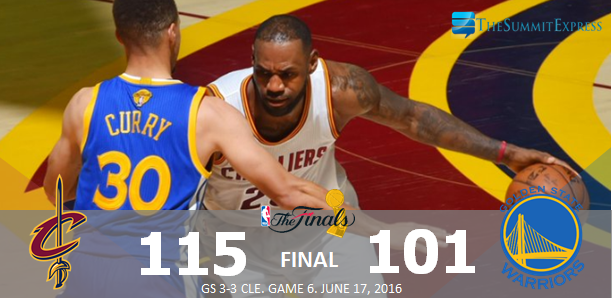 Cavs dump Warriors to force Game 7, makes NBA Finals history