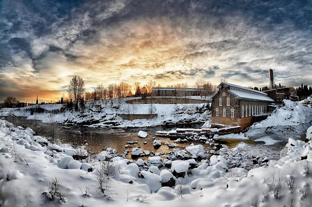 Schneelandschaft, See im Winter, Wörterliste Schnee, Idee im Schnee