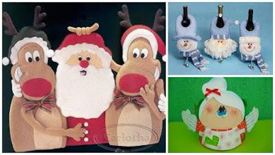 muñecos-navideños-renos-santa-claus-muñeco-nieve