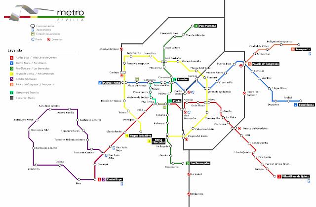 plano mapa del metro de sevilla
