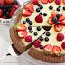 Crostata morbida al cacao con crema allo yogurt