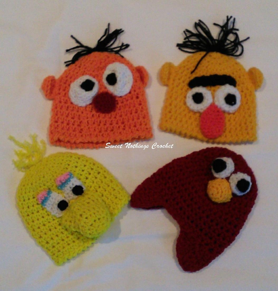 756fbcf0a9a Sweet Nothings Crochet  PREEMIE CAPS 23 - SESAME STREET CHARACTER CAPS