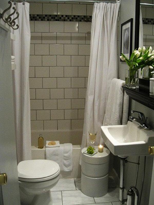 Hogares frescos 30 ideas para cuartos de ba os peque os y for Modelos de banos para departamentos