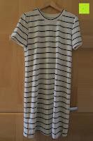 Vorderseite: Yidarton Damen Crew Neck Base Gestreiftes Kurz Spaltung Casual T-Shirt Top Bluse