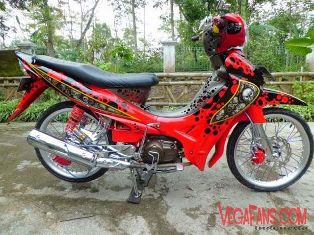 Jupiter Z Modif Airbrush Merah