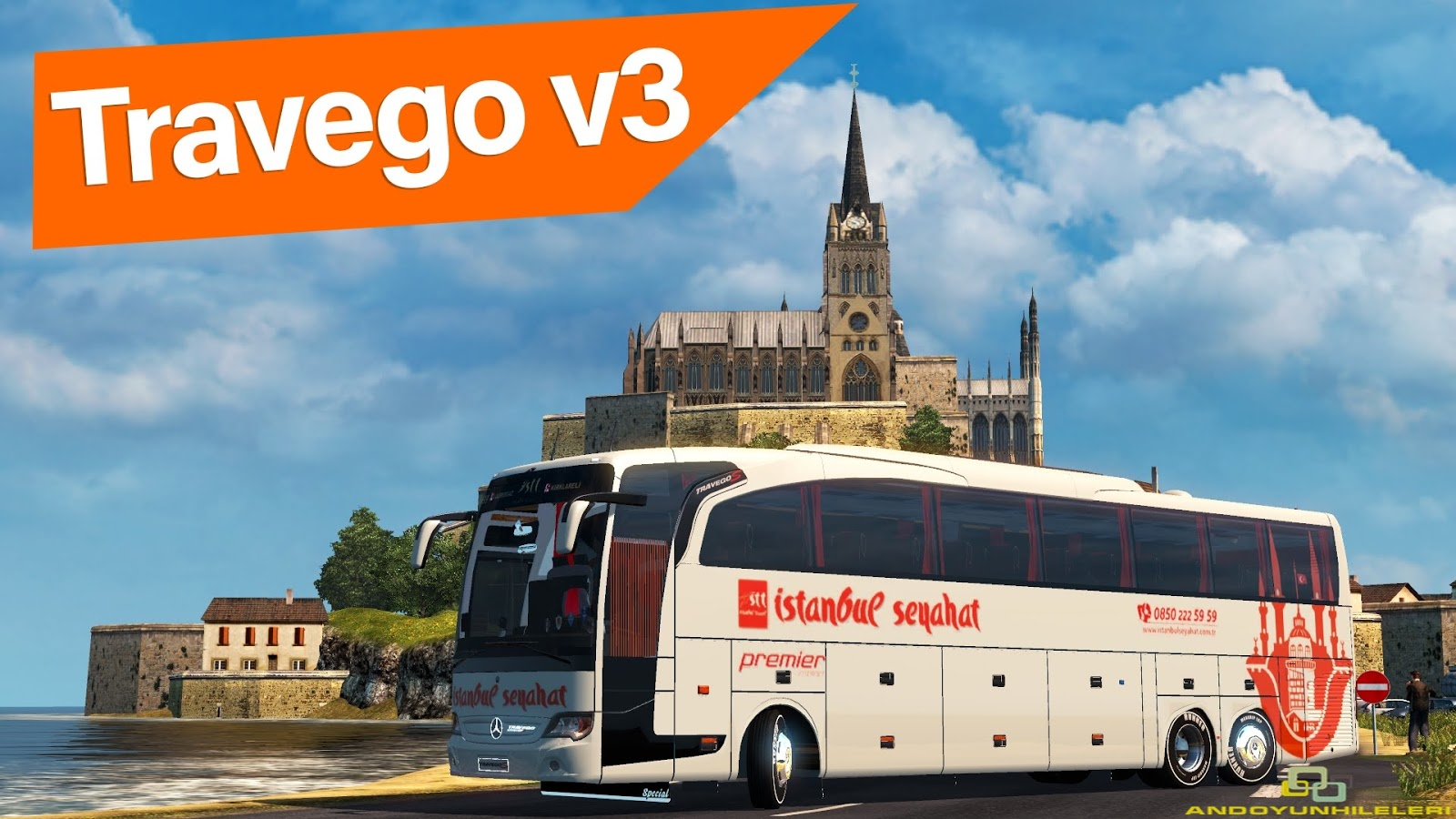 Euro Truck Simulator 2 Travego Otobüs