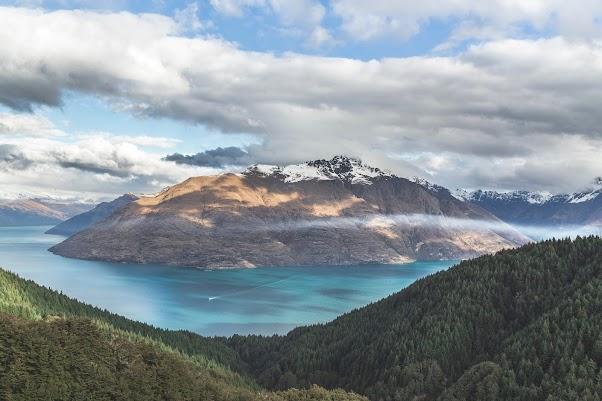 Blue Lake And White Peaks