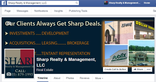 Social Media Cover page - Sharp Realty