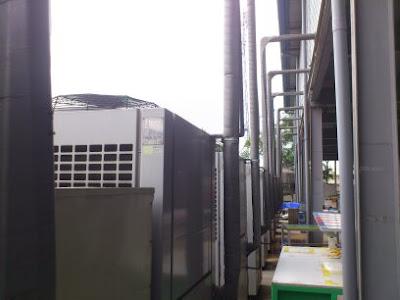 Bảo dưỡng điều hòa tại nhà máy Elentec của TPP Việt Nam
