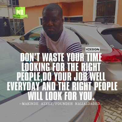 """The Problem With Bloggers Of This Our Generation Is That They Want To Add """"Naija"""" To Their Domain - Makinde Continues"""