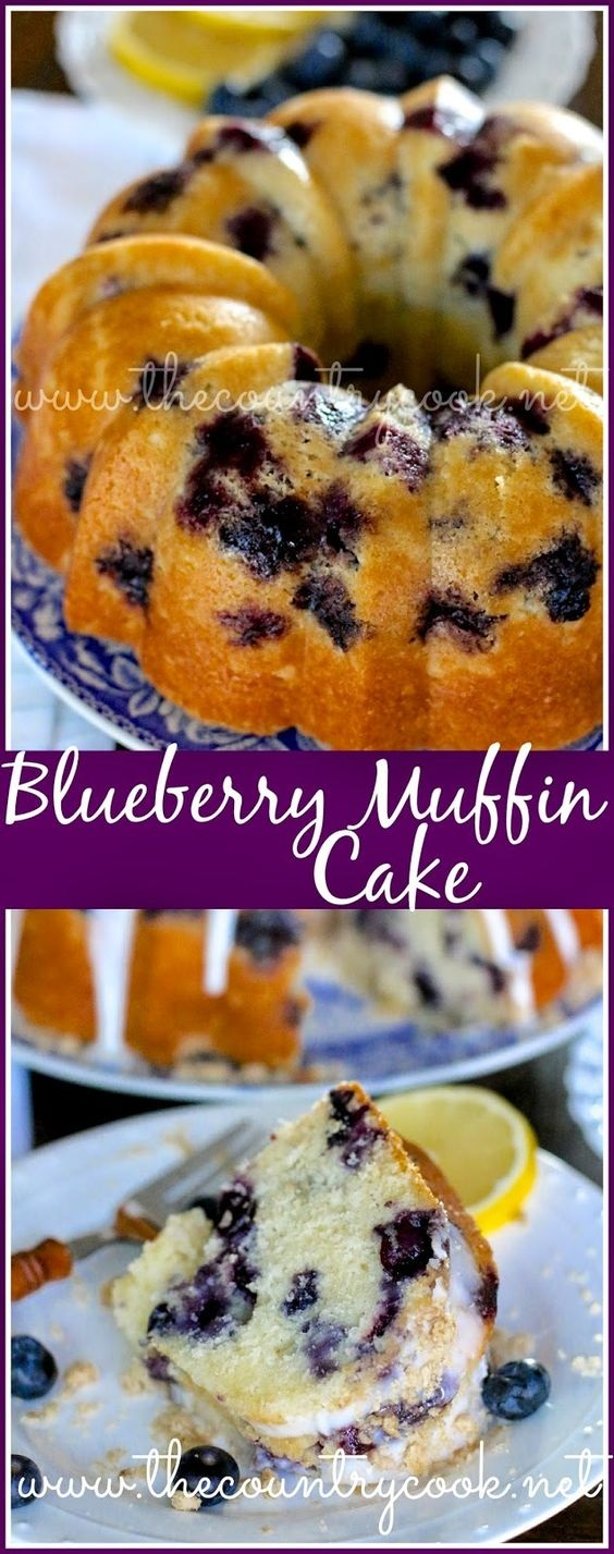 Fresh Blueberry Muffin Cake