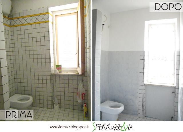 Sferruzz co t g house il bagno blu makeover parte 1 togliere le piastrelle e tinteggiare - Togliere piastrelle bagno ...