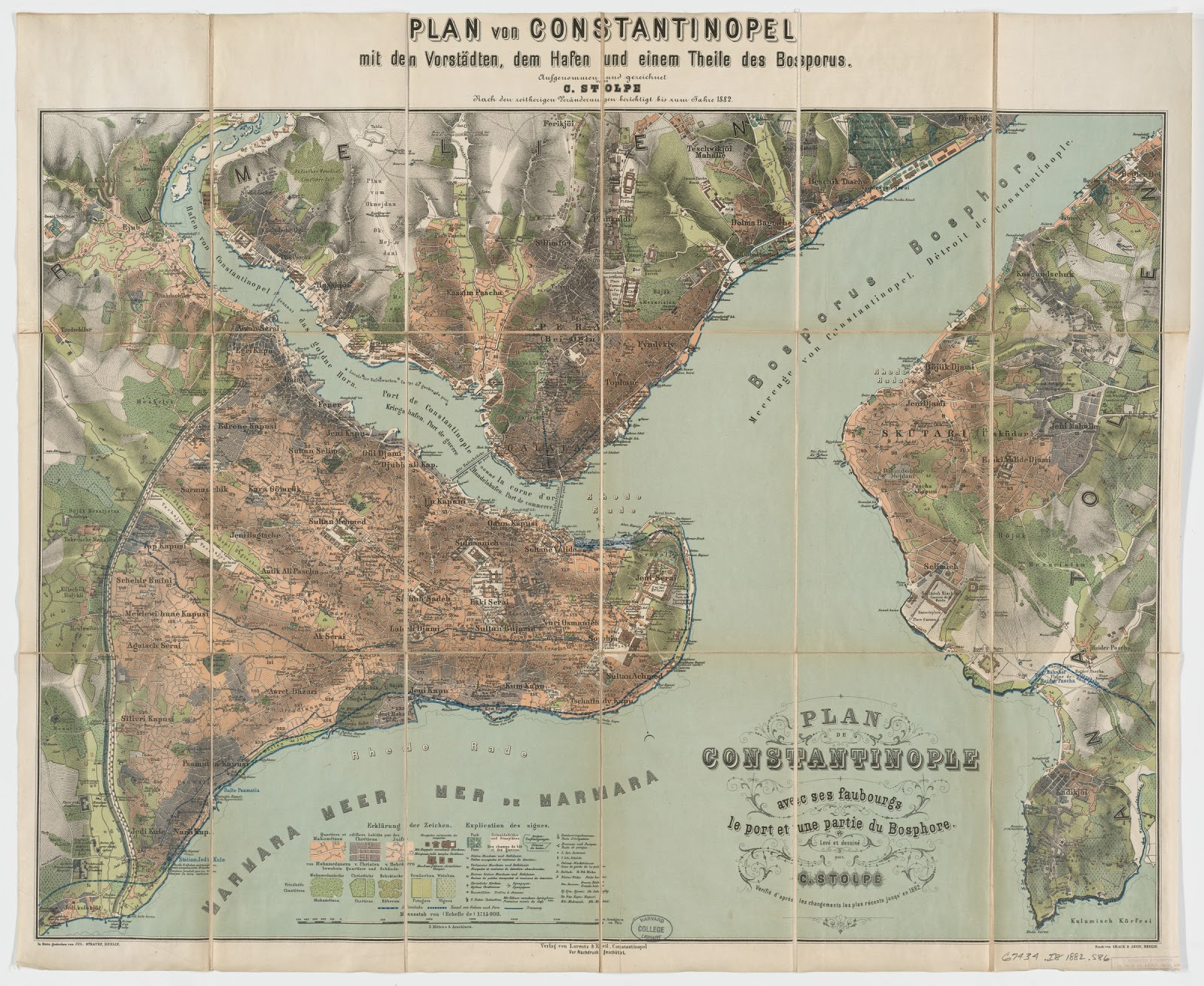 during the second half of the 19th century printed cartography became common istanbul plans of the city accompanied the travel guides that targeted the