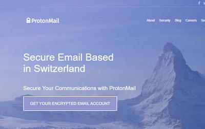 خدمة مجانية لإنشاء بريد إلكتروني آمن ومشفر