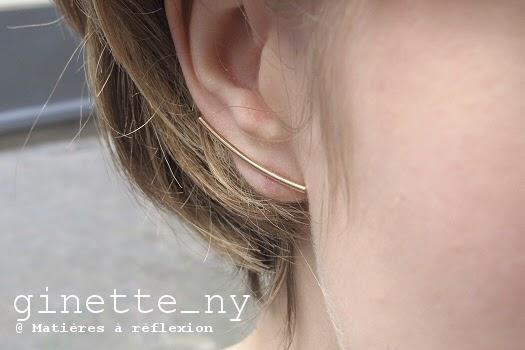 Bijoux Ginette NY Boucles d'oreilles Arc or rose 18k