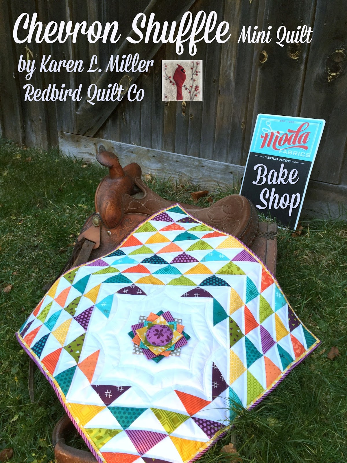Karen's Quilts, Crows and Cardinals: Chevron Shuffle on ...