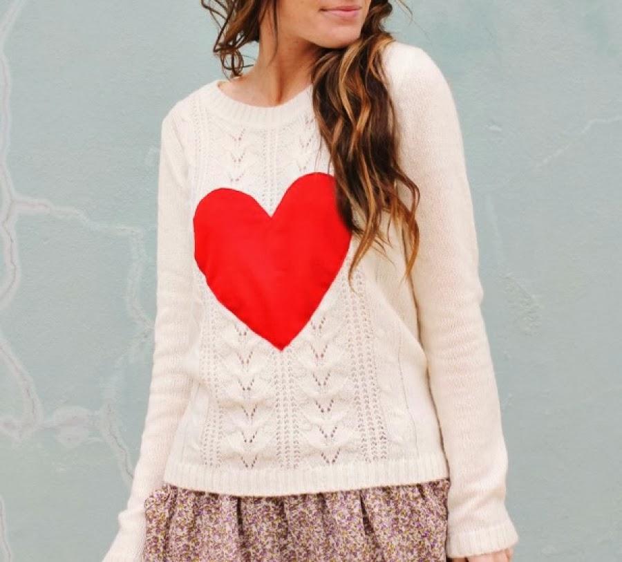 Θέλεις να ακολουθήσεις την μόδα  Φτιάξε μόνη σου ένα τέλειο πουλόβερ με  καρδιές! c015245673a