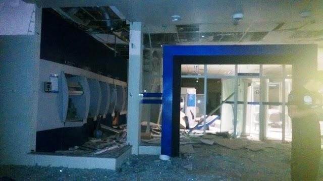 Quadrilha invade cidade de Campos Sales e explode agência da Caixa na madrugada