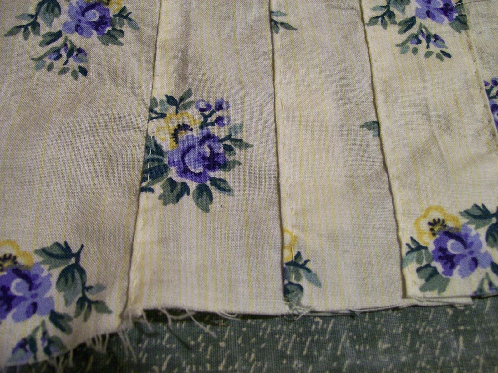 Hand-sewn tucks.