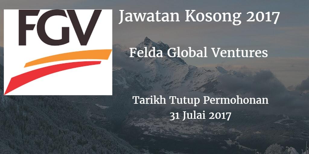 Jawatan Kosong FGV 31 Julai 2017