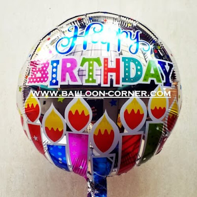 Balon Foil Bulat Motif HAPPY BIRTHDAY / Balon Foil Bulat HBD (16)