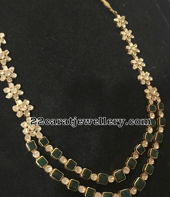 Two Layer Emerald Diamond Sets
