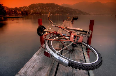 Increíble fotografía HRD  de bicicleta