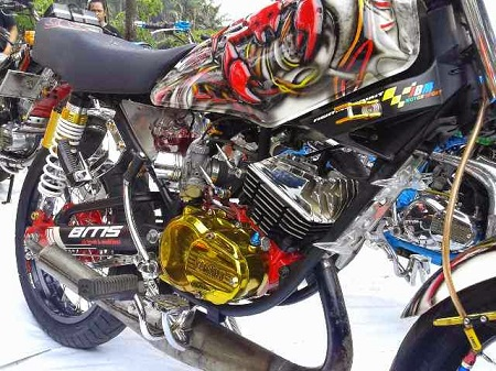 modifikasi motor yamaha rx king drag