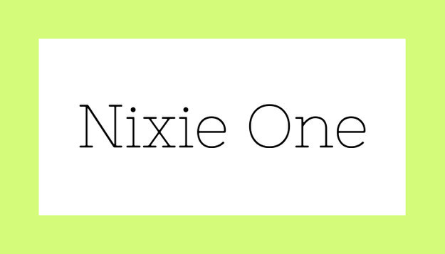 Font Nixie One Download