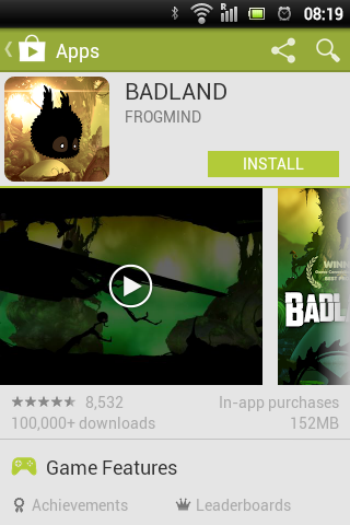 Google Play Store Badland