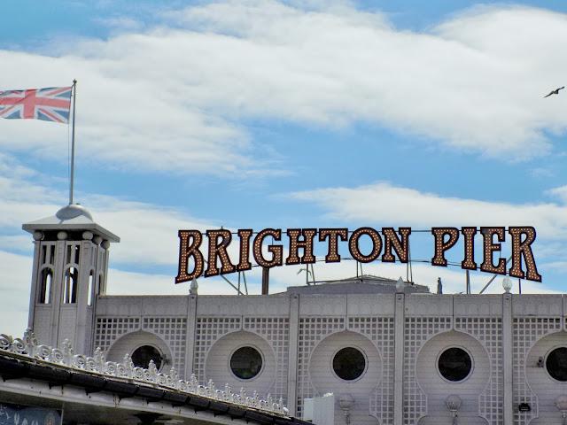Brighton Pier blue skies in summer