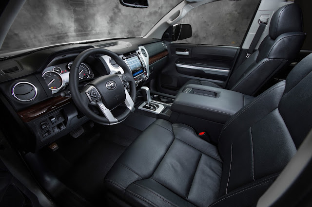 Interior view of 2017 Toyota Tundra Limited Crewmax