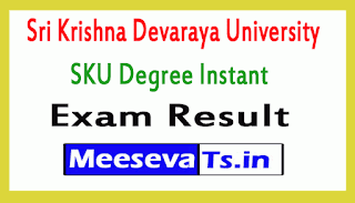 Sri Krishna Devaraya University SKU Degree Instant Exam Results