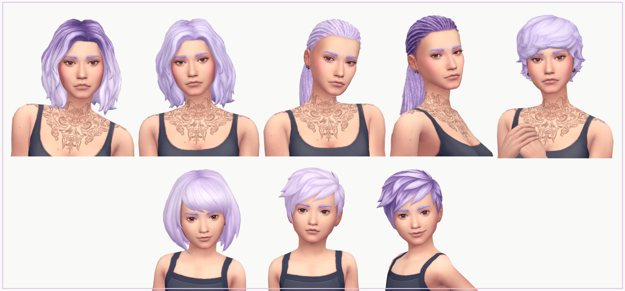 My Sims 4 Blog Backyard Stuff Hair Recolors By Wms
