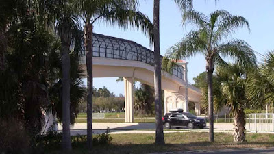View of Legacy Trail bicycle and pedestrian bridge over Route 41 Bypass Venice Florida