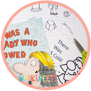 kindergarten book activity - lady who swallowed a
