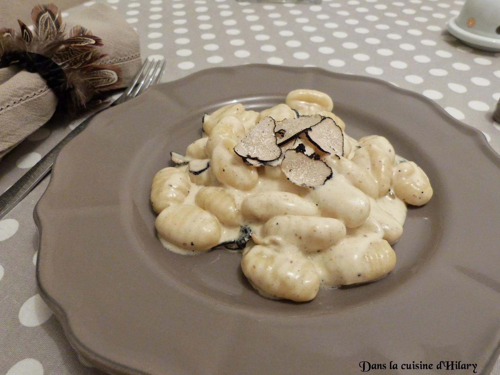 Gnocchis à la crème de truffe