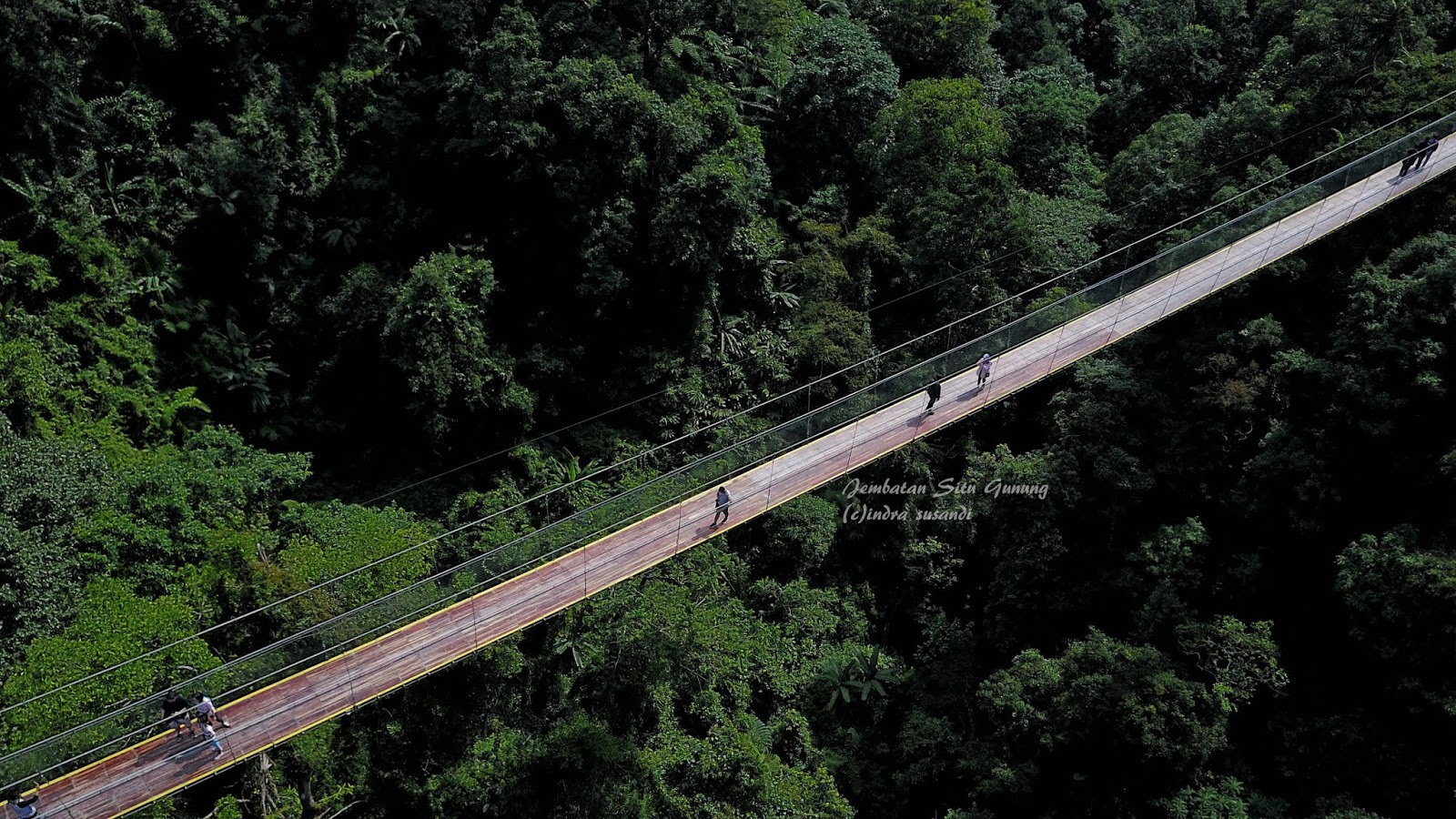 Menikmati Sensasi Di Ketinggian Jembatan Gantung Situ Gunung