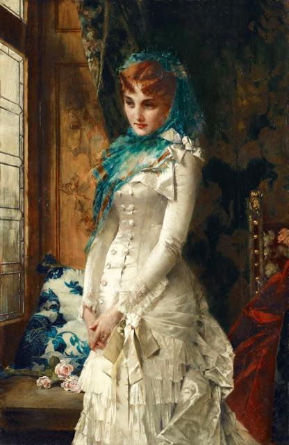 Конрад Кизель Conrad Kiesel - Портрет молодой дамы в дорогом платье