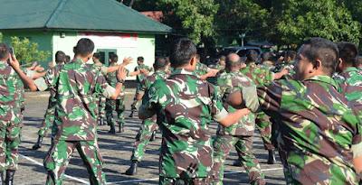 Personel Korem, Balakrem dan PNS 141/Tp Latihan Senam Maumere dan Olahraga Bersama