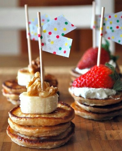Pancakes with Flags. Foto: mixingbowlkids.typepad.com
